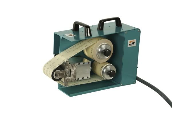 Stationärer Superfinisher 22499 Dynabrade Elektro-Bandschleifer oszillierend mit Kontaktrad 230 Volt