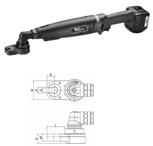 RED ROOSTER RRI-BA35BOA H14 Akkuwinkelschrauber mit Offenmaulabtrieb Schlüsselweite 14 mm 10-23 Nm