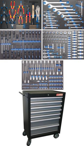 BGS technic 4060 Werkstattwagen | 7 Schubladen | mit 243 Werkzeugen