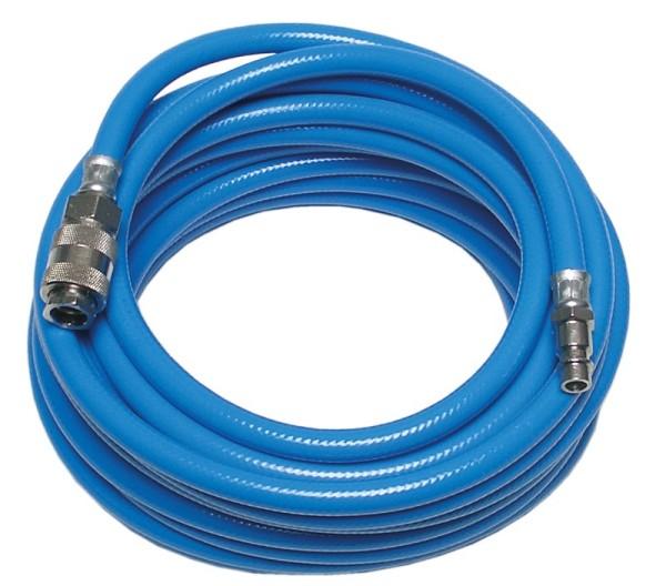 BGS 3250 Druckluftschlauch 10 m PVC-Gewebeschlauch mit Schnellkupplung silikonfrei