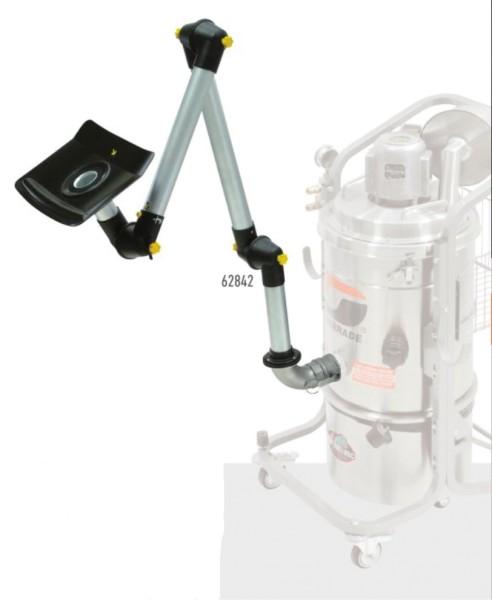 Dynabrade Absaugarm 62842 mit eckiger Absaughaube und 3 Gelenken für Industriestaubsauger 1092 mm