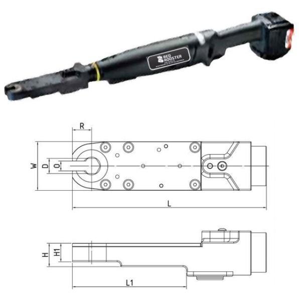 Akku Drehschrauber mit Offenmaulabtrieb RRI-BA10IOA H13 Red Rooster Schlüsselweite 13 mm 7-13 Nm
