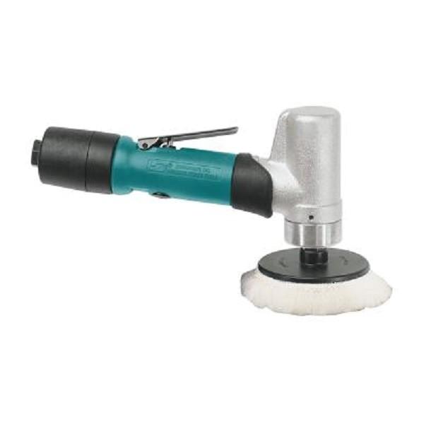 Dynabrade 51402 Druckluft Poliermaschine 76 mm Rotationspolierer mit Anstellwinkel 3600 RPM 0,4 PS