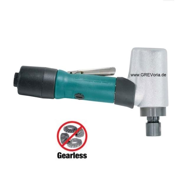 Dynabrade 52222 Druckluft-Winkelstabschleifer mit Spannzange kurzer Schaft extrem Leise 20000 RPM