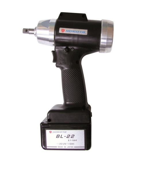 """YOKOTA YBX-600TA Akku Abschaltimpulsschrauber 1/4"""" sechskant 7-18 Nm 22 Volt"""
