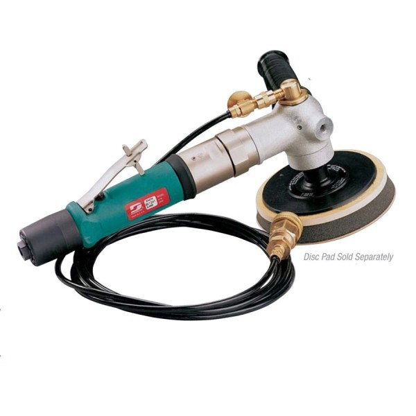Dynabrade 51604 Druckluft-Nass-Poliermaschine Nasspolierer mit Drehzahlregulierung 127-203 mm